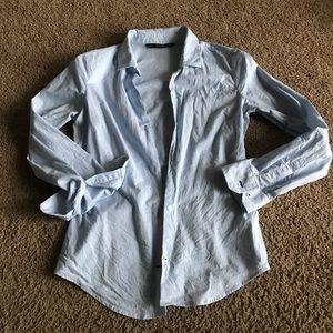 Baby blue button up dress shirt